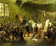 Horace Vernet l' atelier du peintre oil painting reproduction